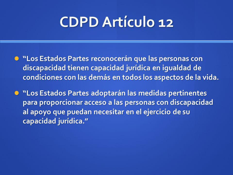 CDPD Artículo 12