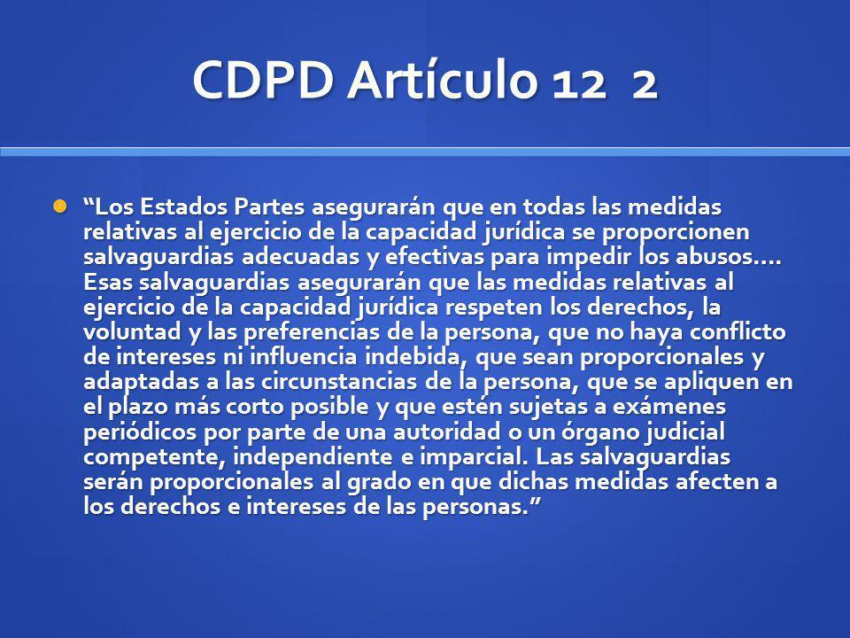 CDPD Artículo 12 2