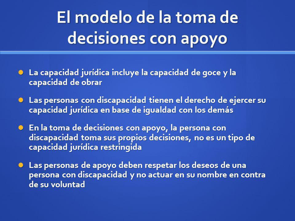 El modelo de la toma de decisiones con apoyo