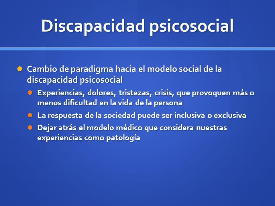 Discapacidad psicosocial