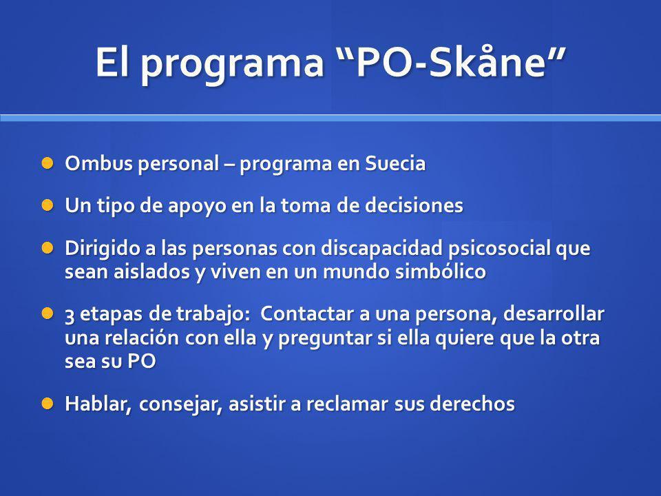 El programa PO-Skåne