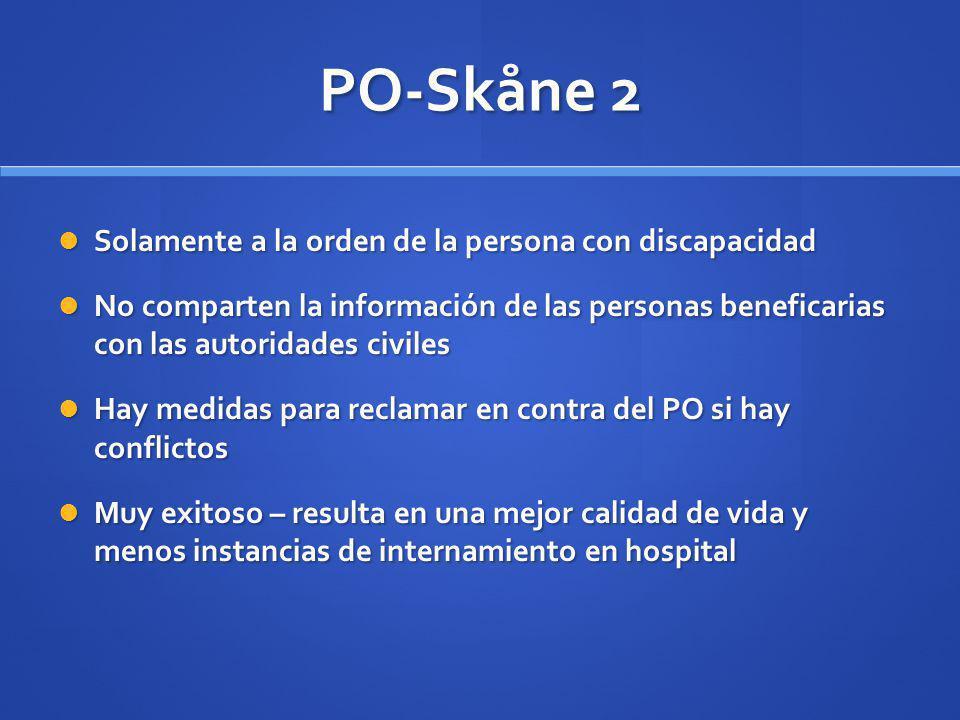 PO-Skåne 2 Solamente a la orden de la persona con discapacidad