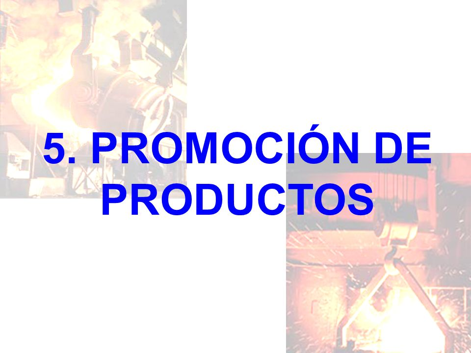 5. PROMOCIÓN DE PRODUCTOS