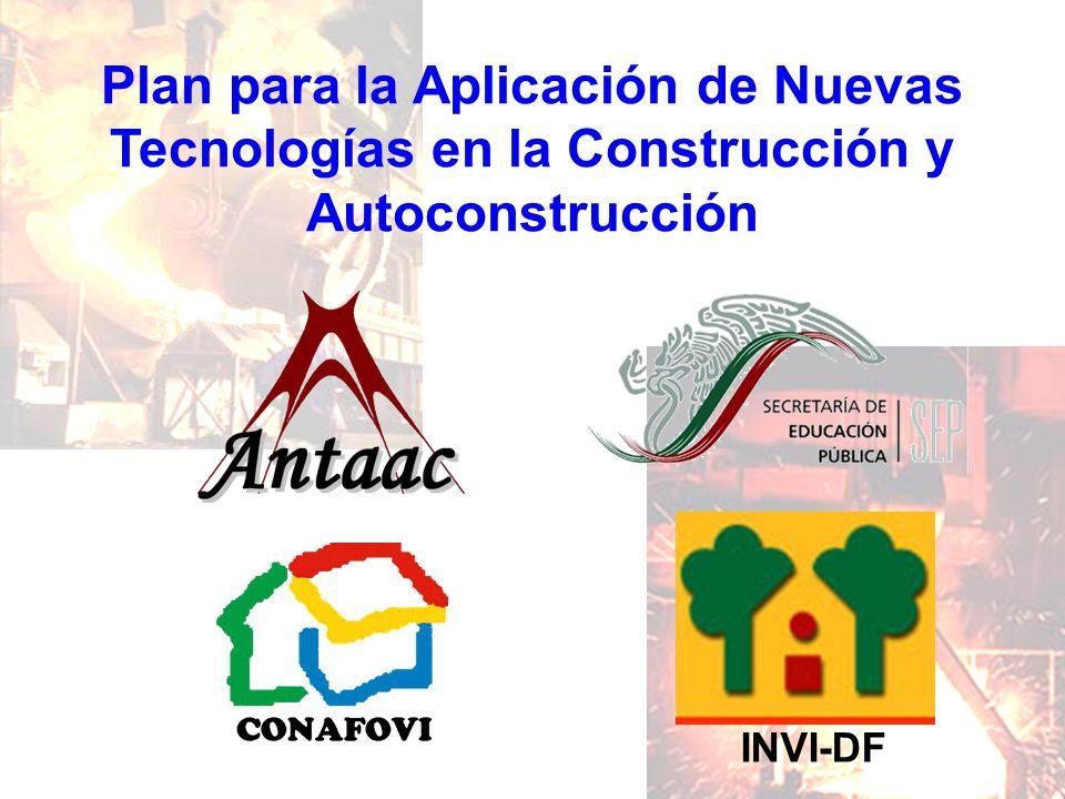 Plan para la Aplicación de Nuevas Tecnologías en la Construcción y Autoconstrucción