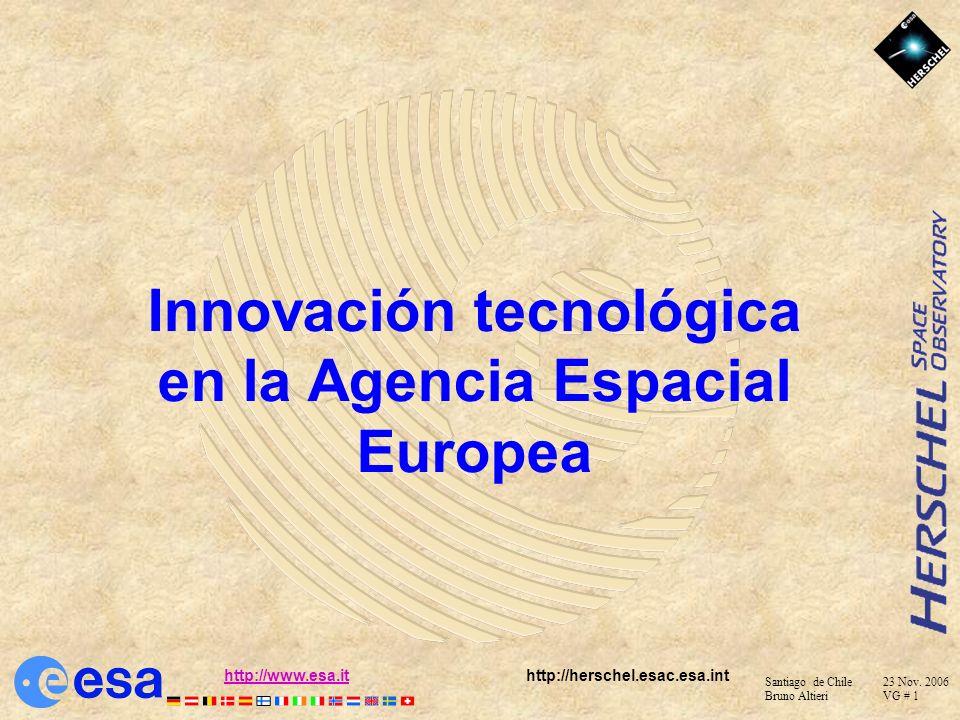 Innovación tecnológica en la Agencia Espacial Europea