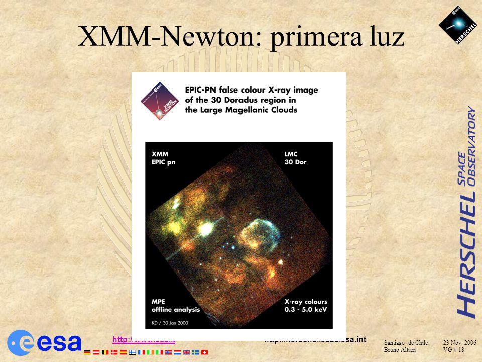 XMM-Newton: primera luz