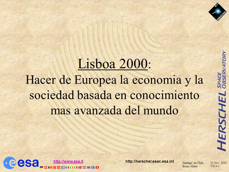 Lisboa 2000: Hacer de Europea la economia y la sociedad basada en conocimiento mas avanzada del mundo