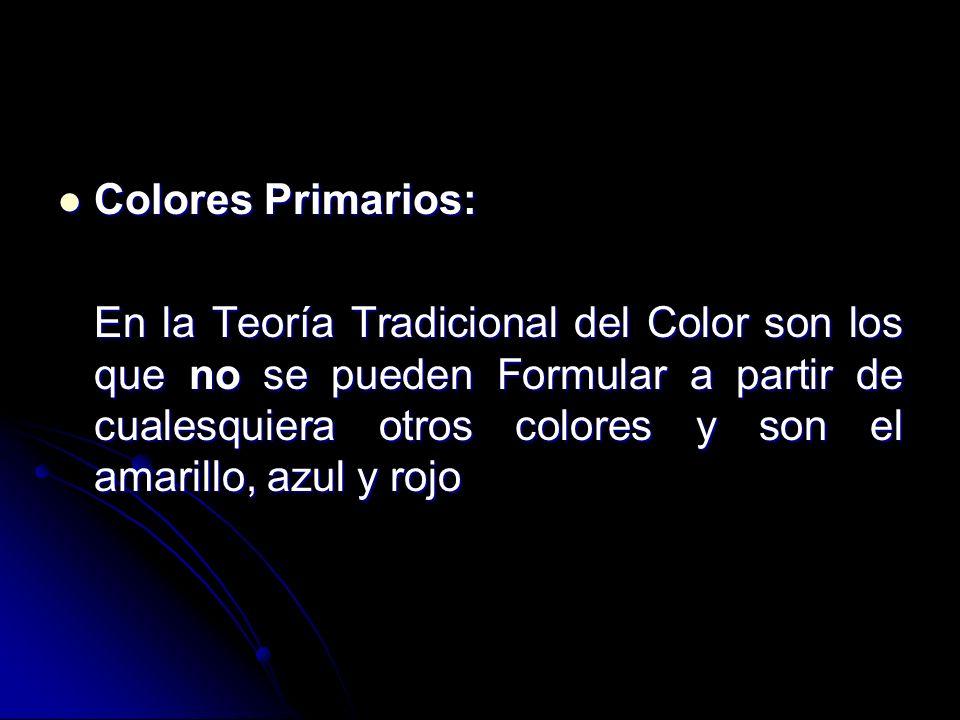 Colores Primarios: