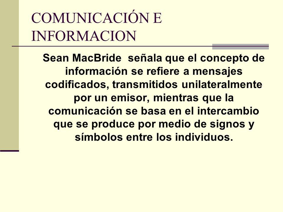 COMUNICACIÓN E INFORMACION