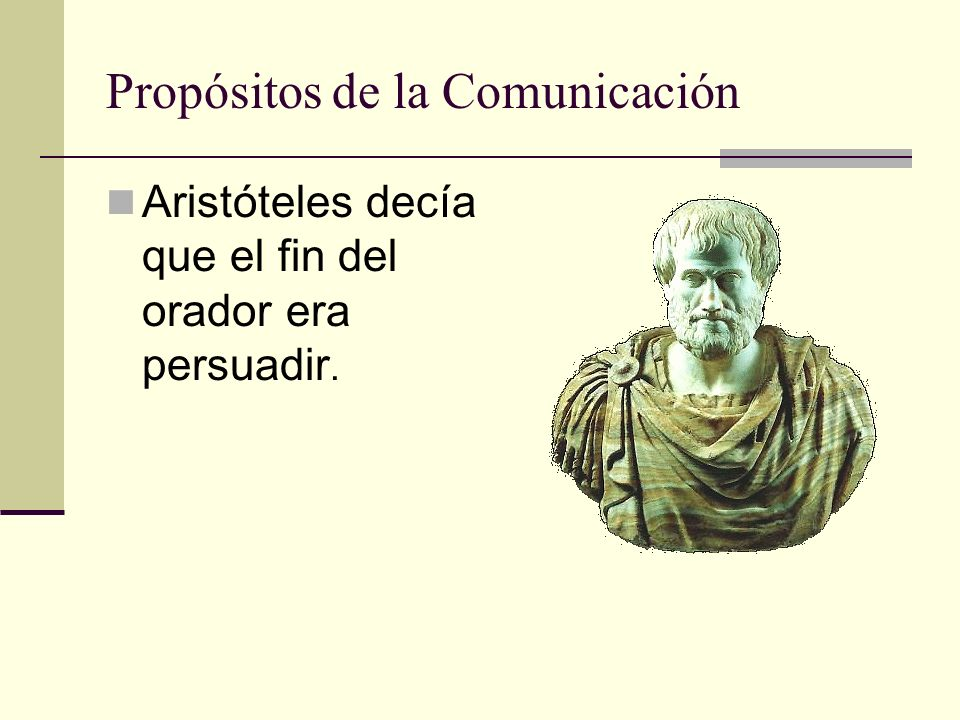 Propósitos de la Comunicación