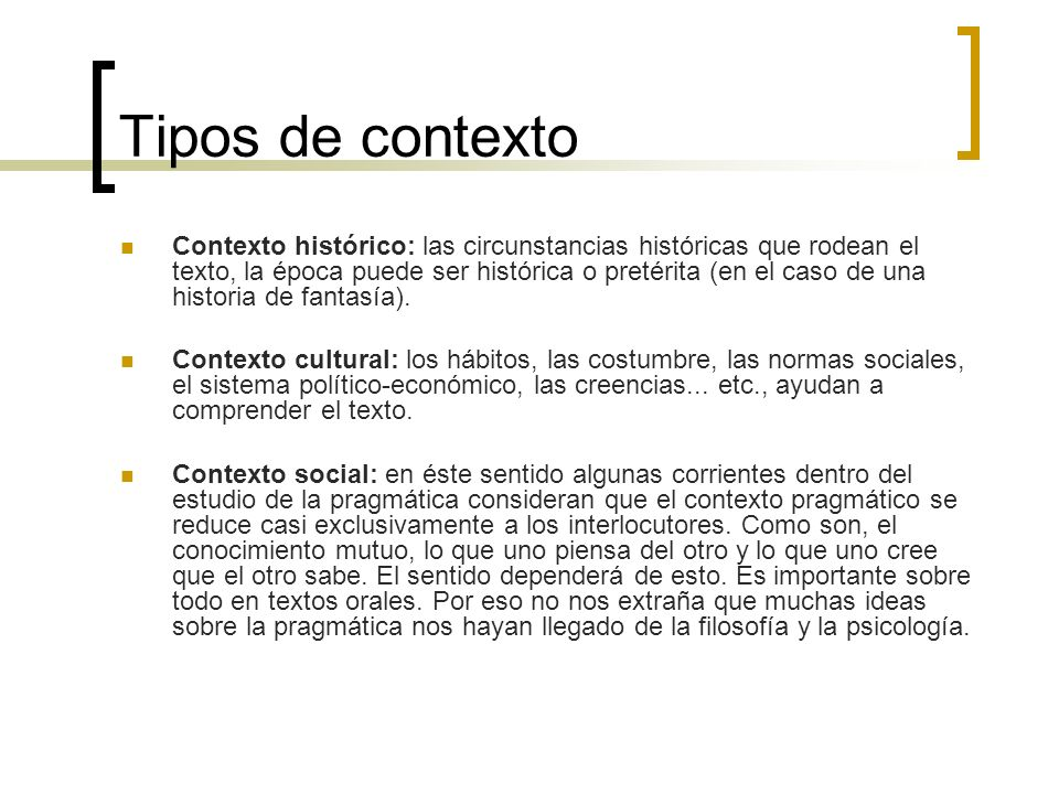 Tipos de contexto