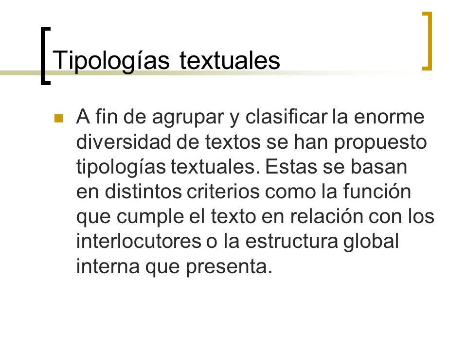 Tipologías textuales