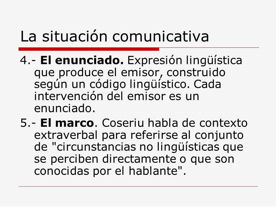 La situación comunicativa
