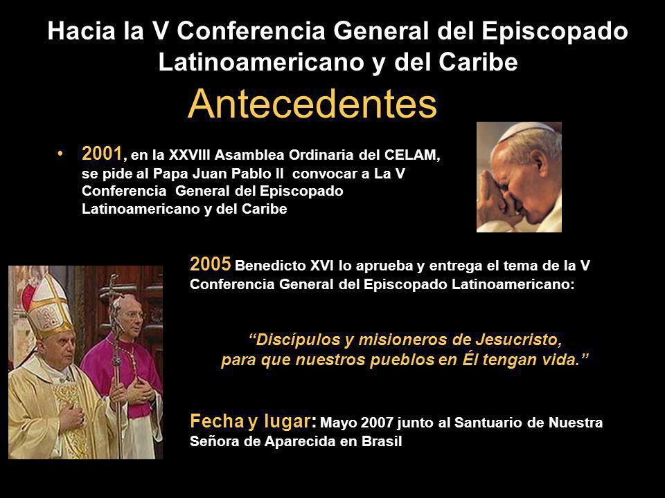 Hacia la V Conferencia General del Episcopado Latinoamericano y del Caribe