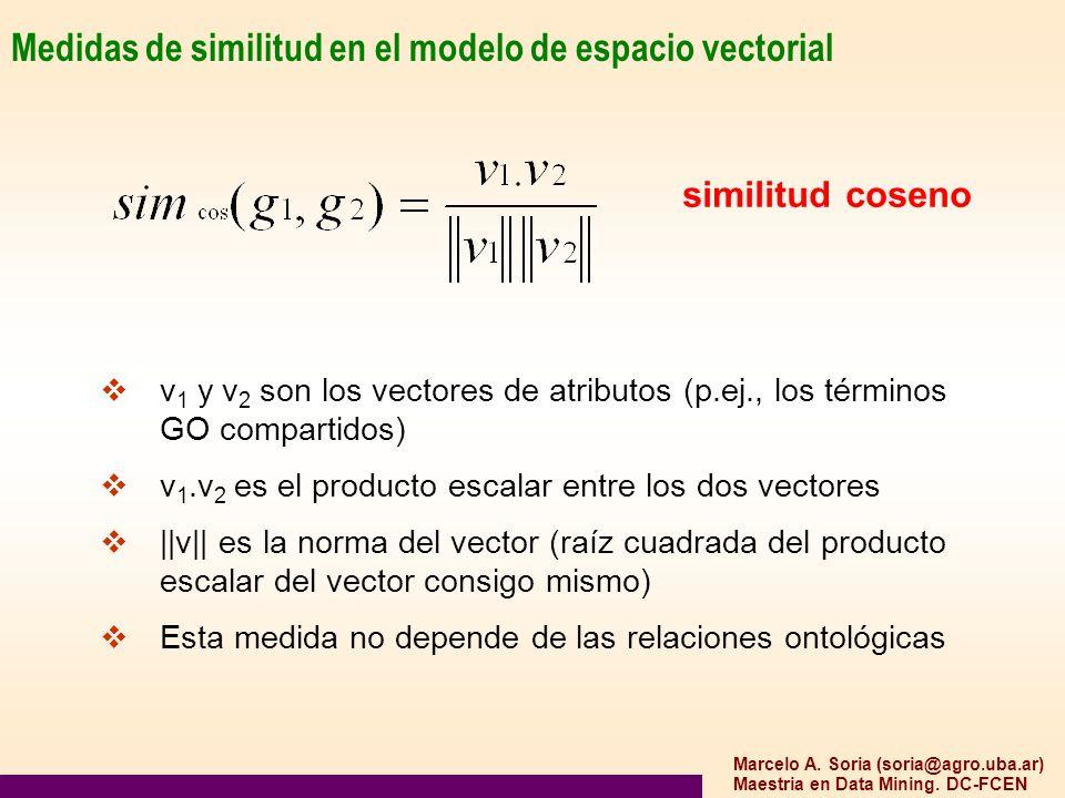 Medidas de similitud en el modelo de espacio vectorial
