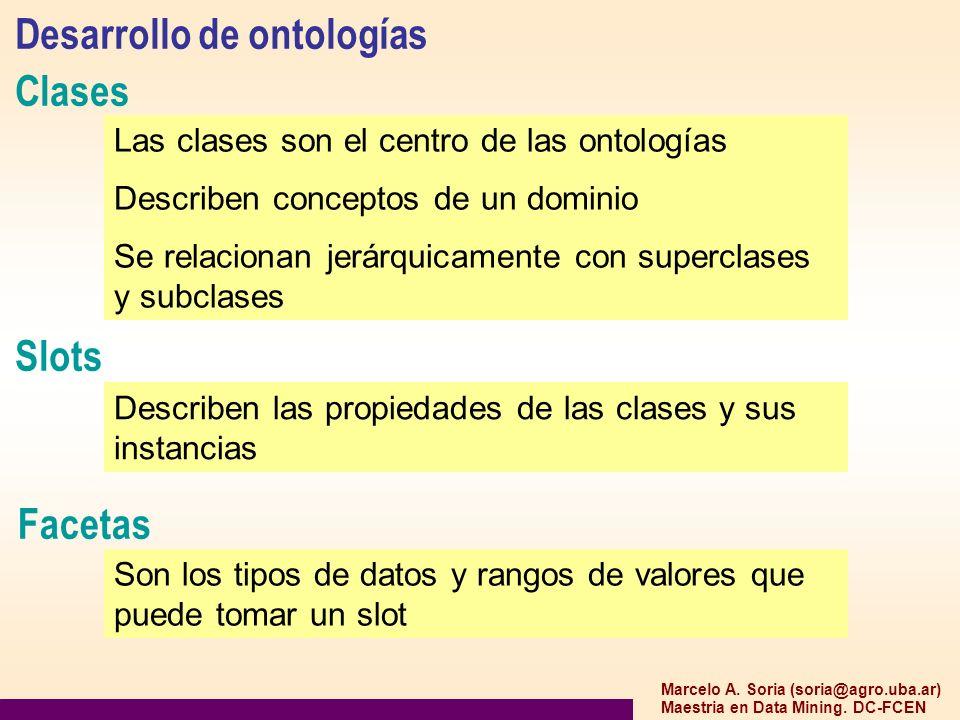 Desarrollo de ontologías Clases