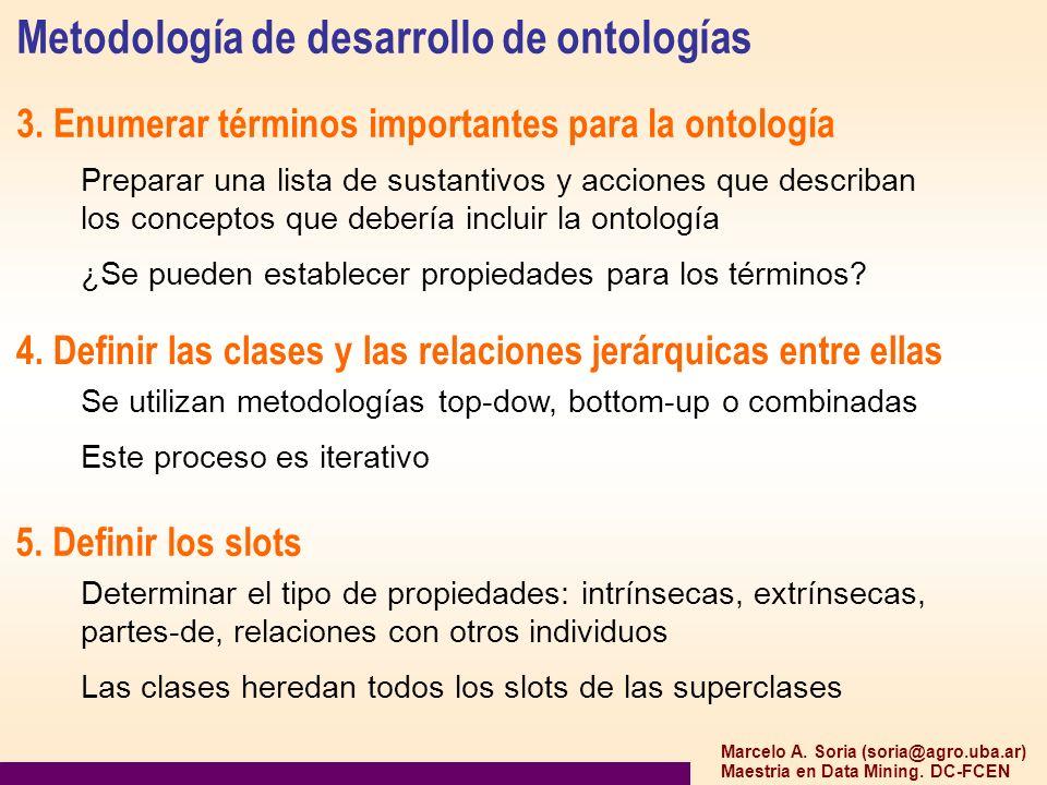 Metodología de desarrollo de ontologías