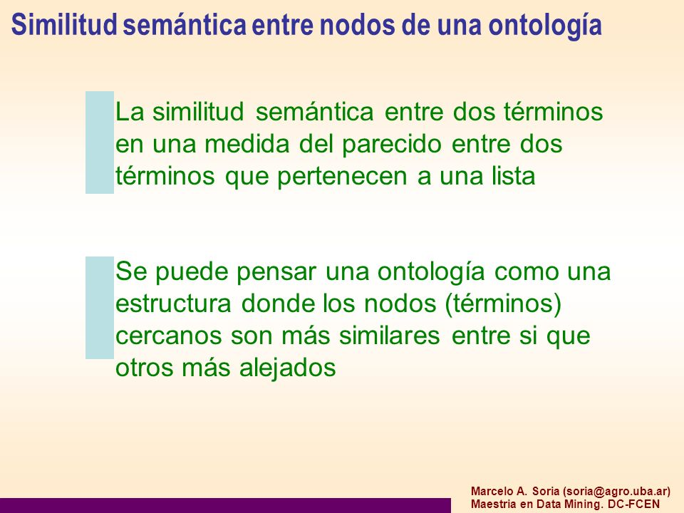 Similitud semántica entre nodos de una ontología
