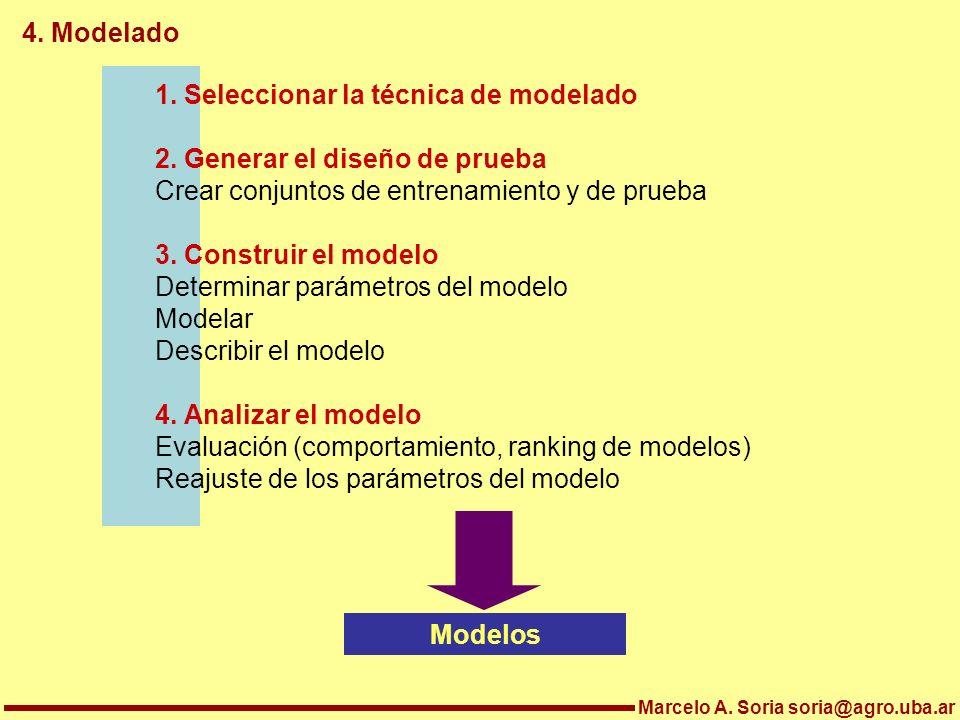 1. Seleccionar la técnica de modelado 2. Generar el diseño de prueba