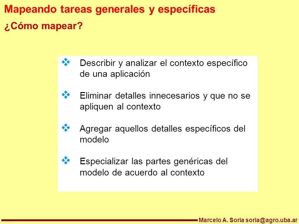 Mapeando tareas generales y específicas