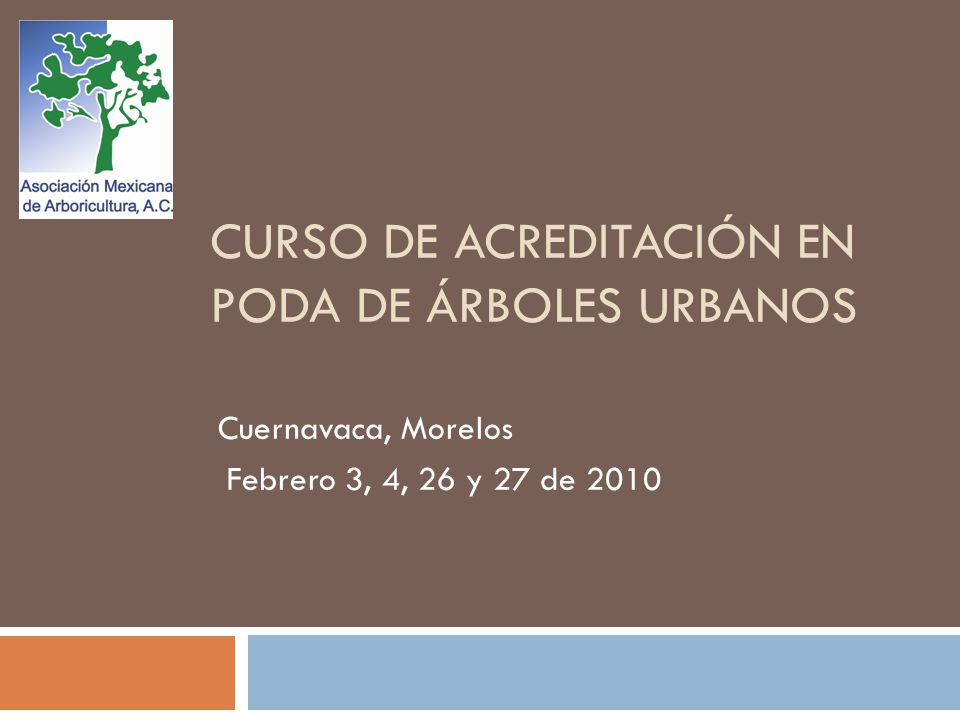 CURSO DE ACREDITACIÓN EN PODA DE ÁRBOLES URBANOS