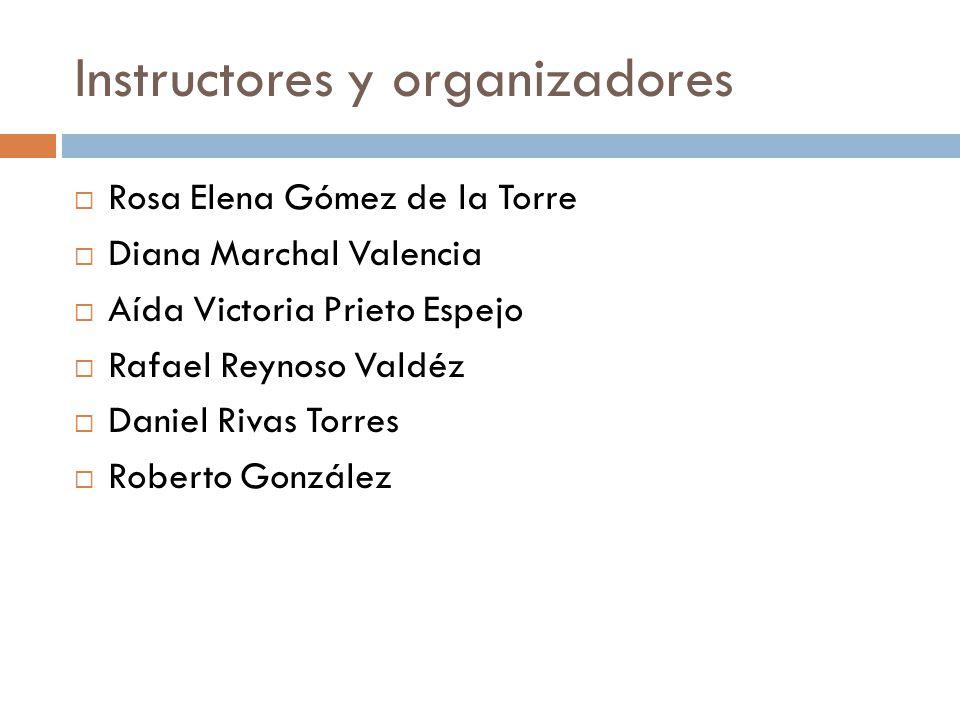 Instructores y organizadores