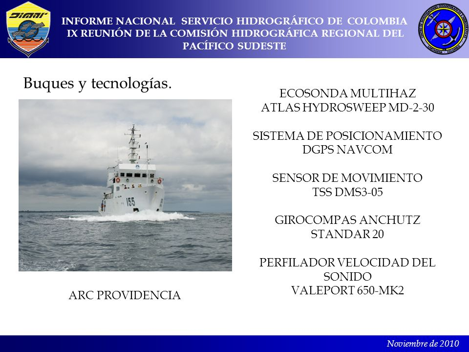 Buques y tecnologías. ECOSONDA MULTIHAZ ATLAS HYDROSWEEP MD-2-30