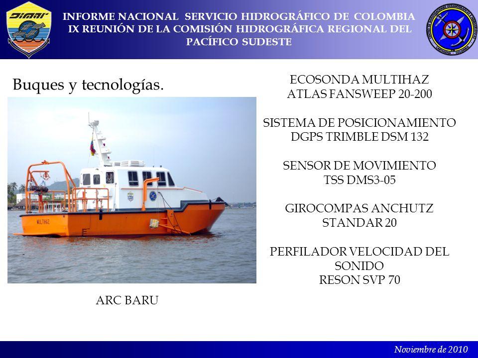 Buques y tecnologías. ECOSONDA MULTIHAZ ATLAS FANSWEEP 20-200