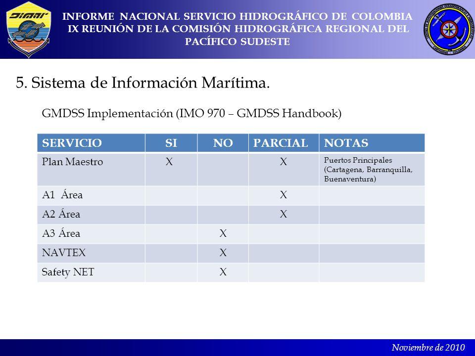 5. Sistema de Información Marítima.