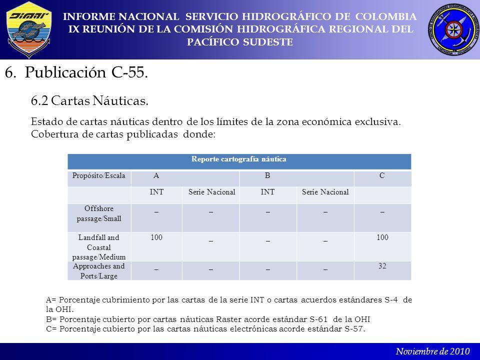 6. Publicación C-55. 6.2 Cartas Náuticas.