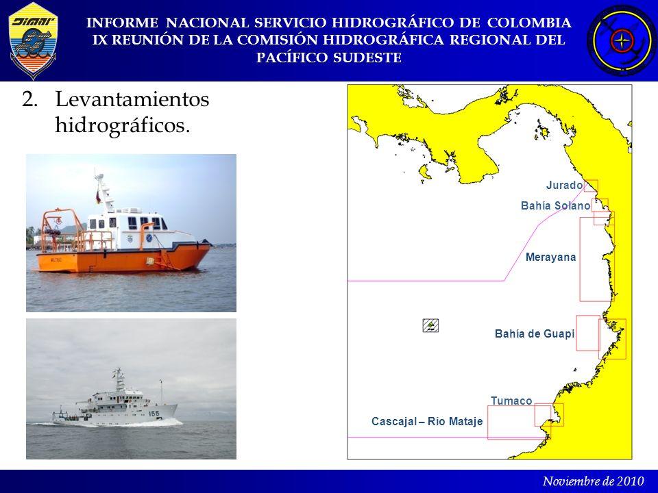 2. Levantamientos hidrográficos.