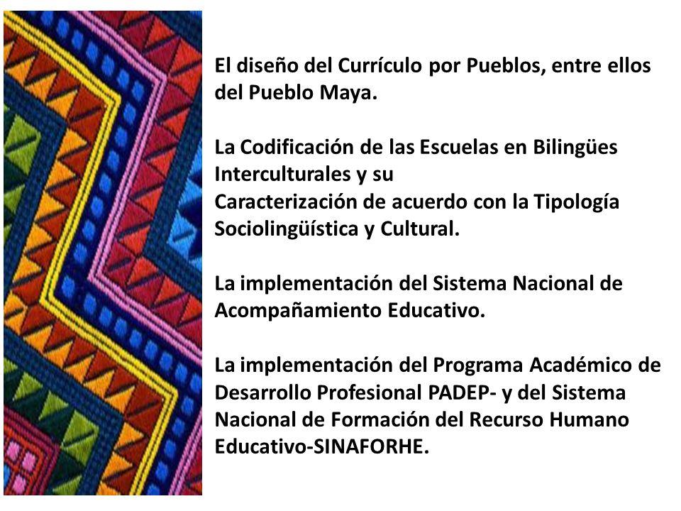 El diseño del Currículo por Pueblos, entre ellos del Pueblo Maya
