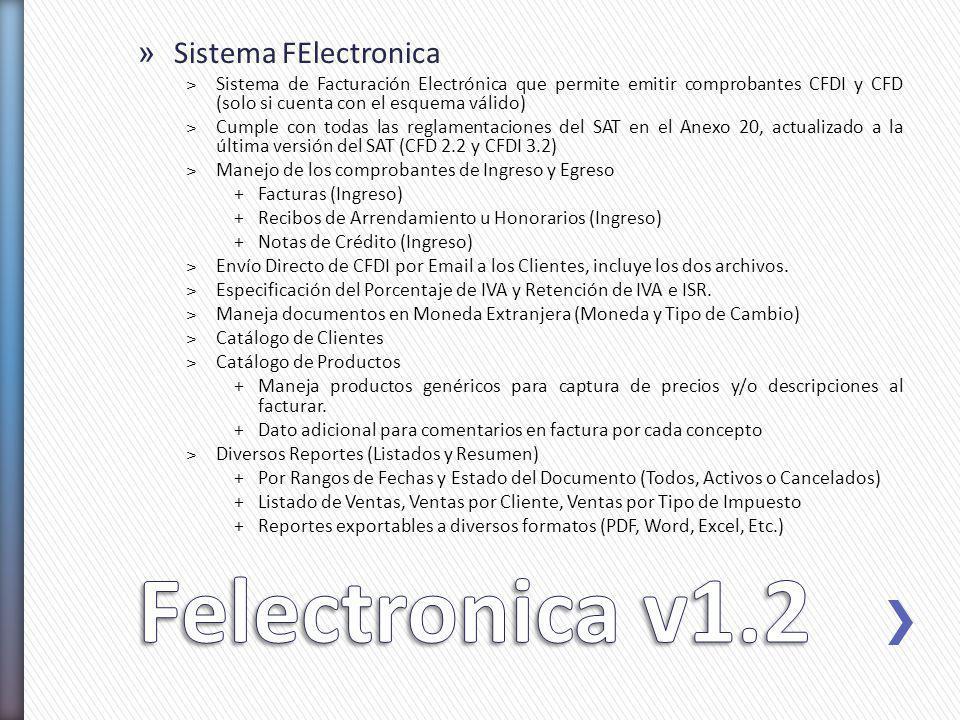 Felectronica v1.2 Sistema FElectronica