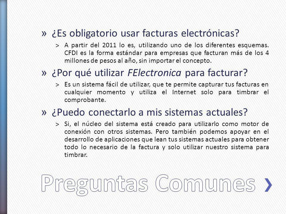 Preguntas Comunes ¿Es obligatorio usar facturas electrónicas