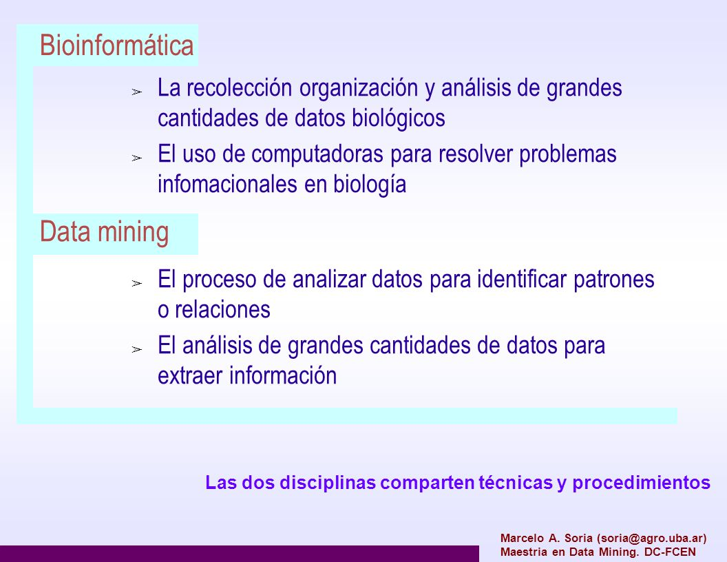 Bioinformática Data mining