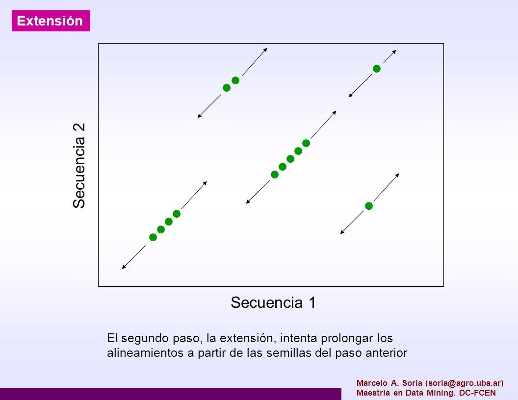 Secuencia 2 Secuencia 1 Extensión