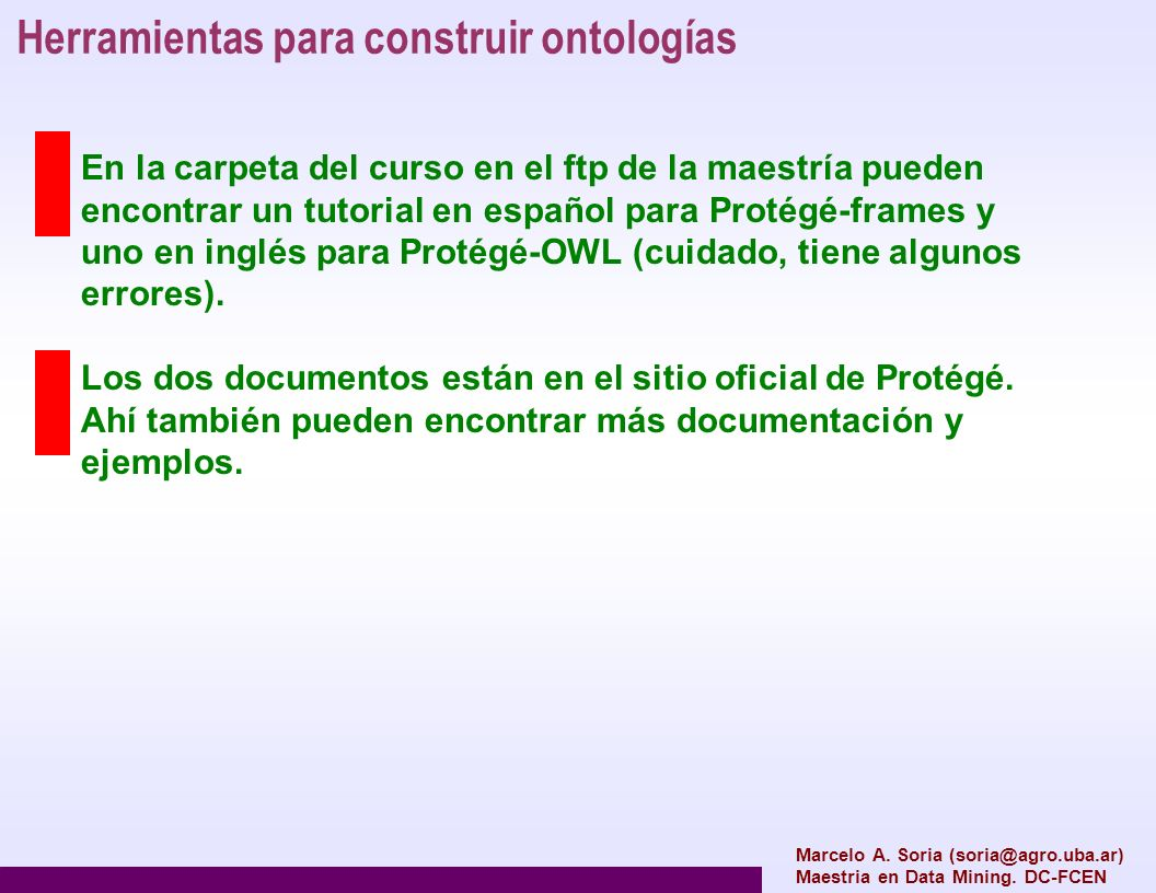 Herramientas para construir ontologías