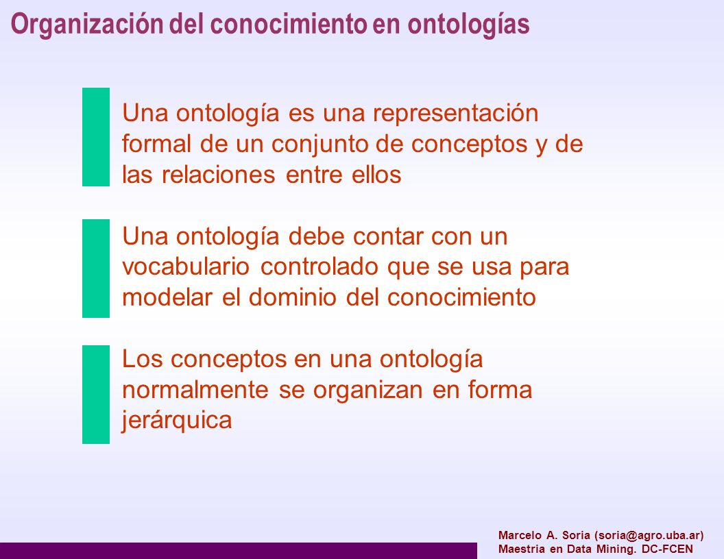 Organización del conocimiento en ontologías