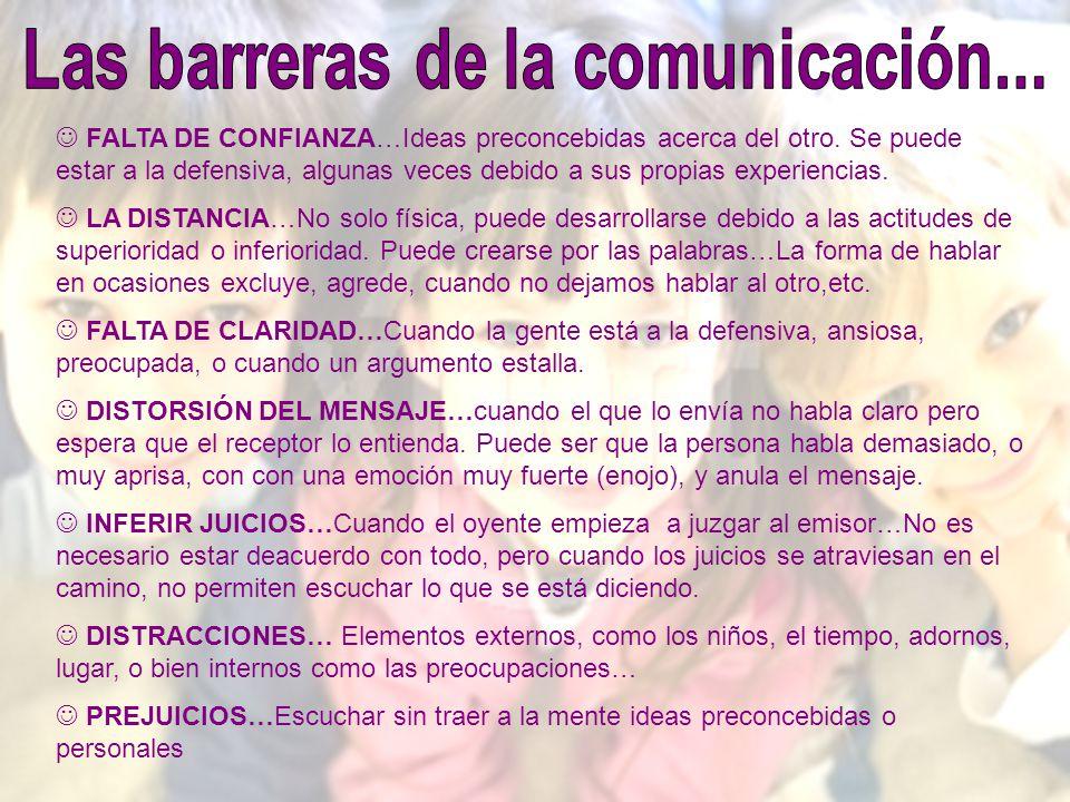 Las barreras de la comunicación...