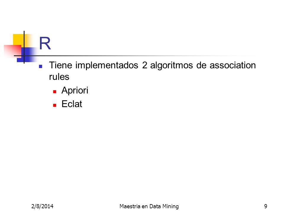 Maestria en Data Mining