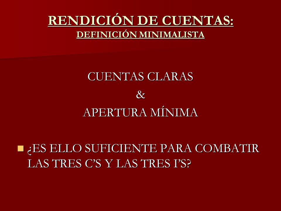 RENDICIÓN DE CUENTAS: DEFINICIÓN MINIMALISTA