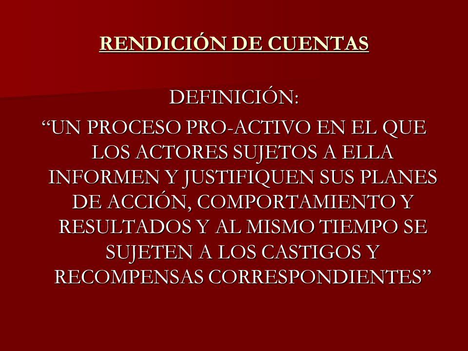 RENDICIÓN DE CUENTAS DEFINICIÓN: