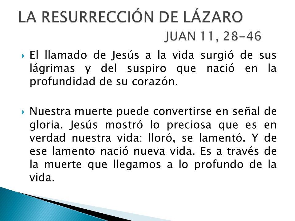 LA RESURRECCIÓN DE LÁZARO JUAN 11, 28-46