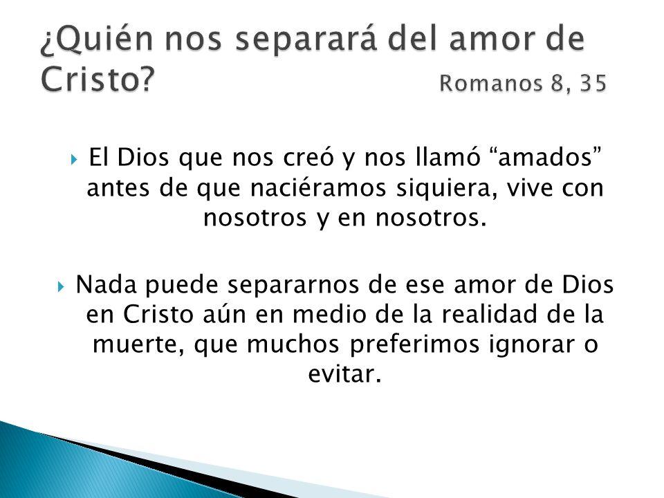 ¿Quién nos separará del amor de Cristo Romanos 8, 35