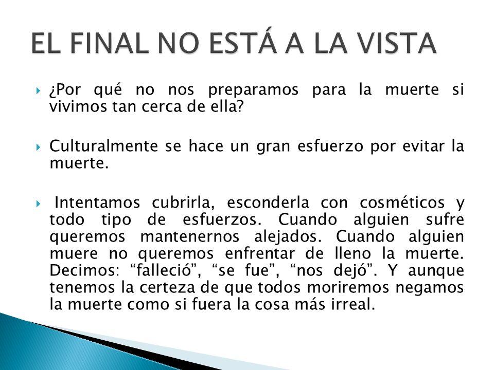 EL FINAL NO ESTÁ A LA VISTA