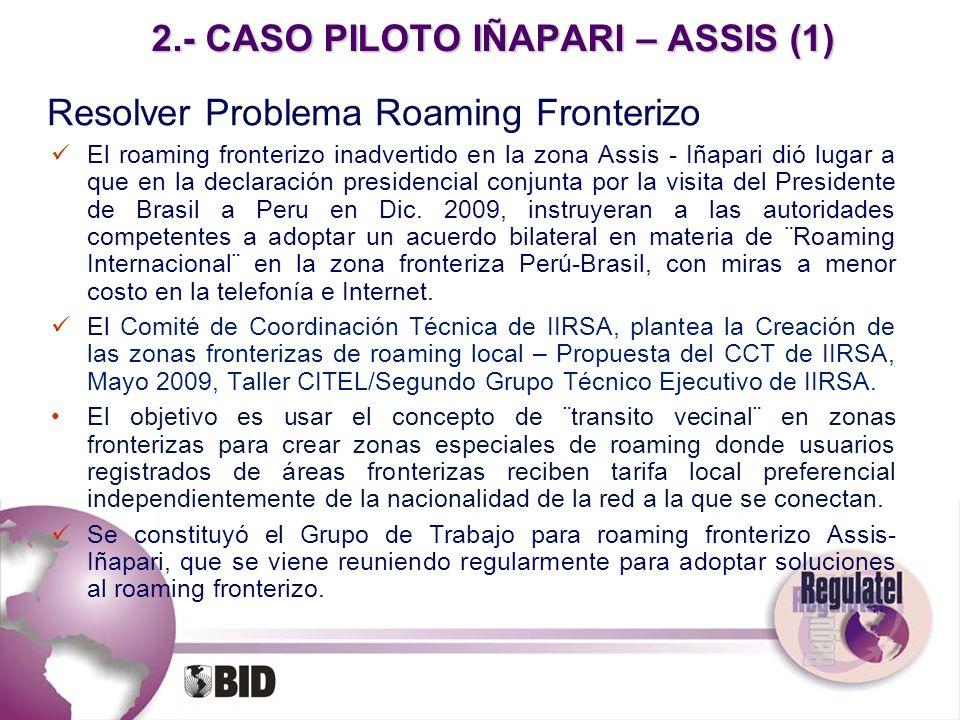2.- CASO PILOTO IÑAPARI – ASSIS (1)