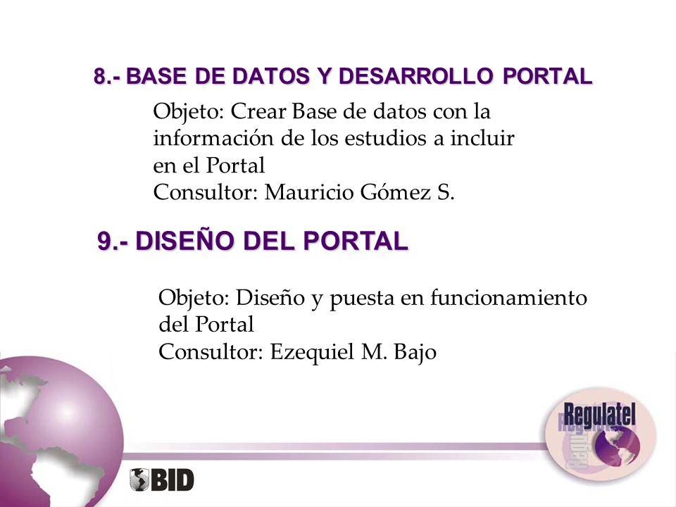 8.- BASE DE DATOS Y DESARROLLO PORTAL