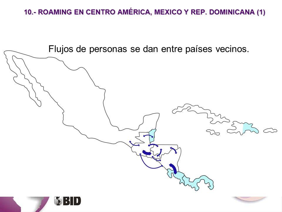 10.- ROAMING EN CENTRO AMÉRICA, MEXICO Y REP. DOMINICANA (1)