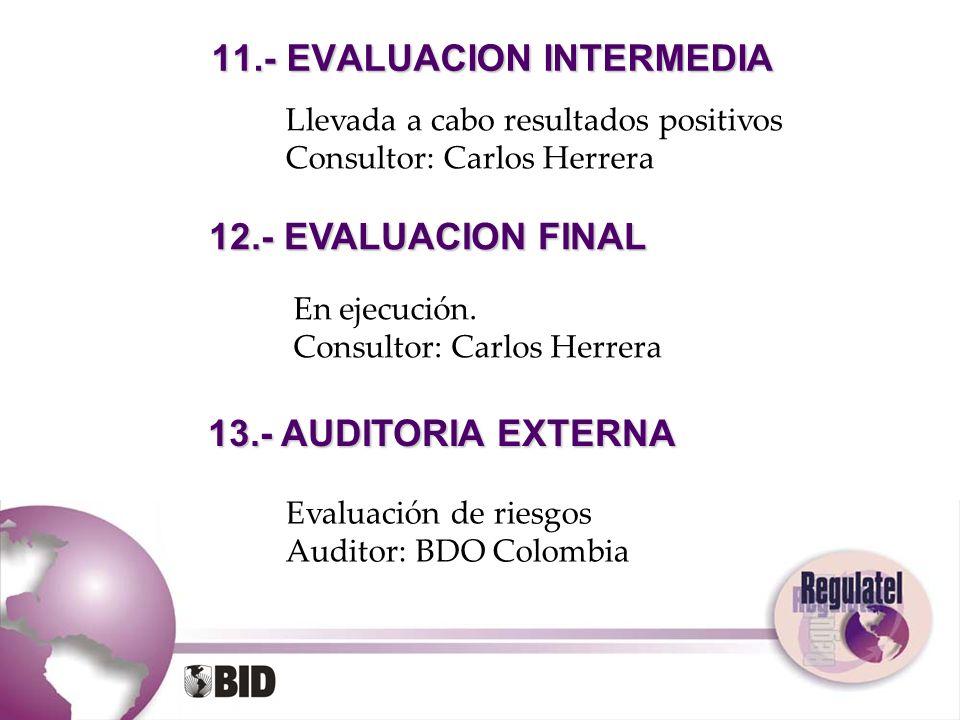 11.- EVALUACION INTERMEDIA