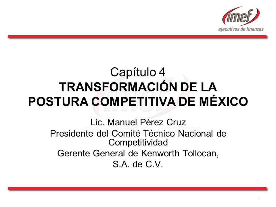 Capítulo 4 TRANSFORMACIÓN DE LA POSTURA COMPETITIVA DE MÉXICO